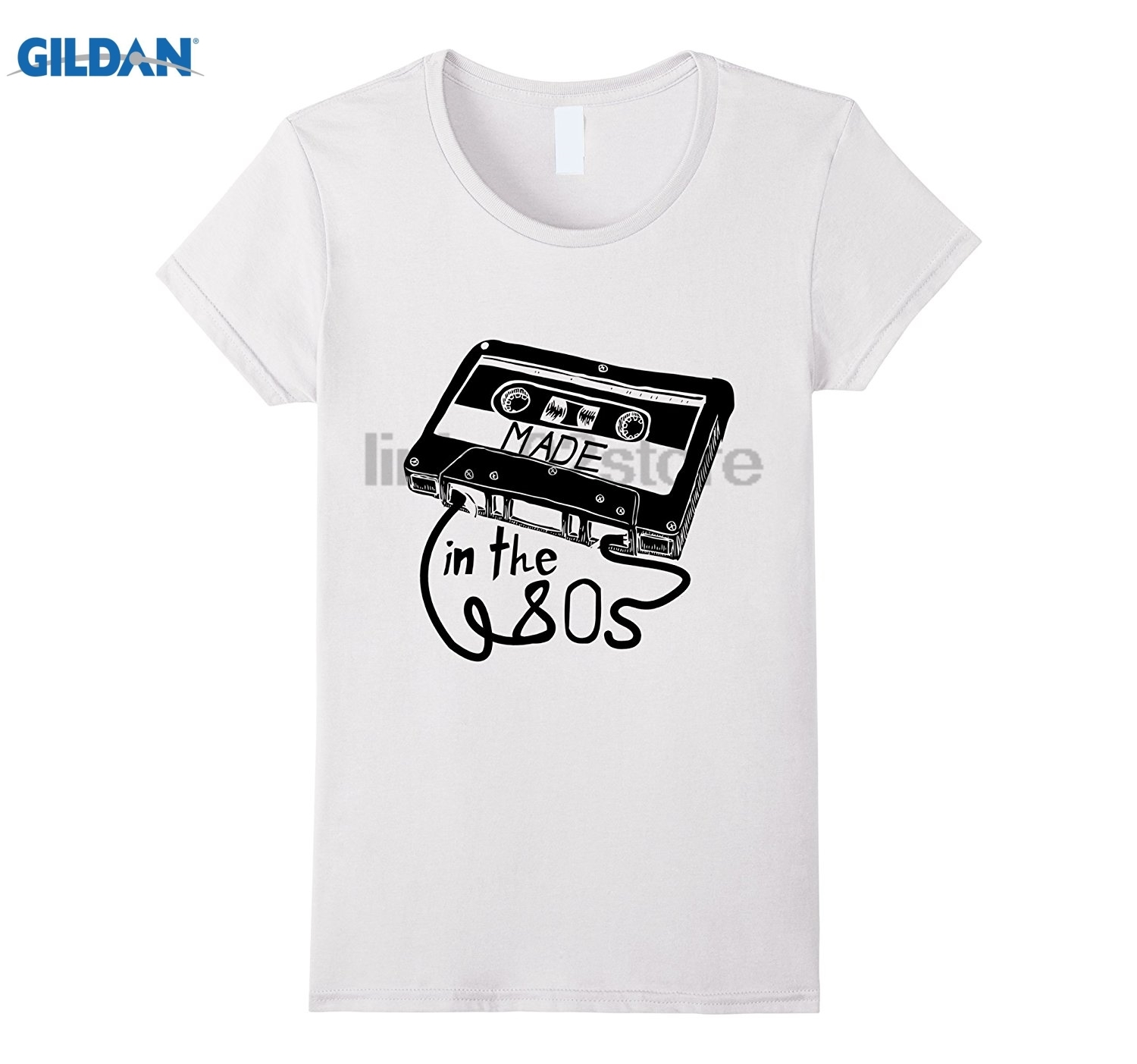 GILDAN Made In The 80s Birthday With Cassette Tape T-shirts Womens T-shirt ...