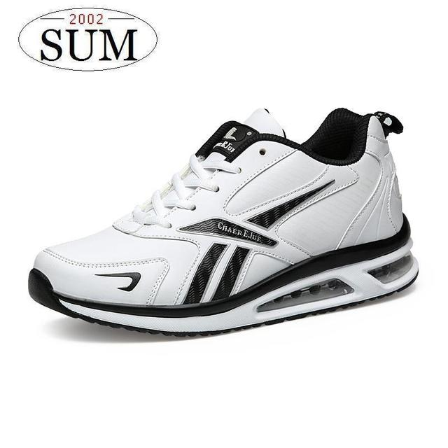 light Runing men sneakers air sole comfortable DMX men's running shoes lace up brand design sport shoes white black color