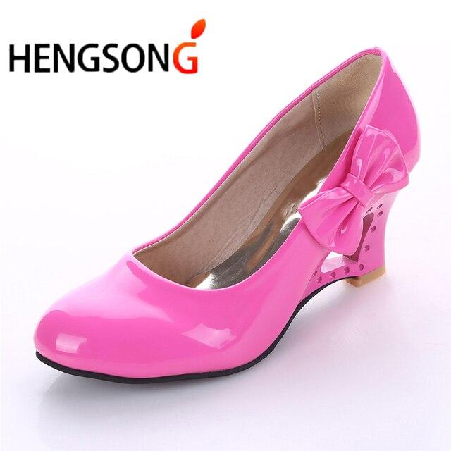 Hengsong Las Stiletto Womens High Heels Shoes Strange Heart Woman Pumps Bowtie Office Wedding Bridal