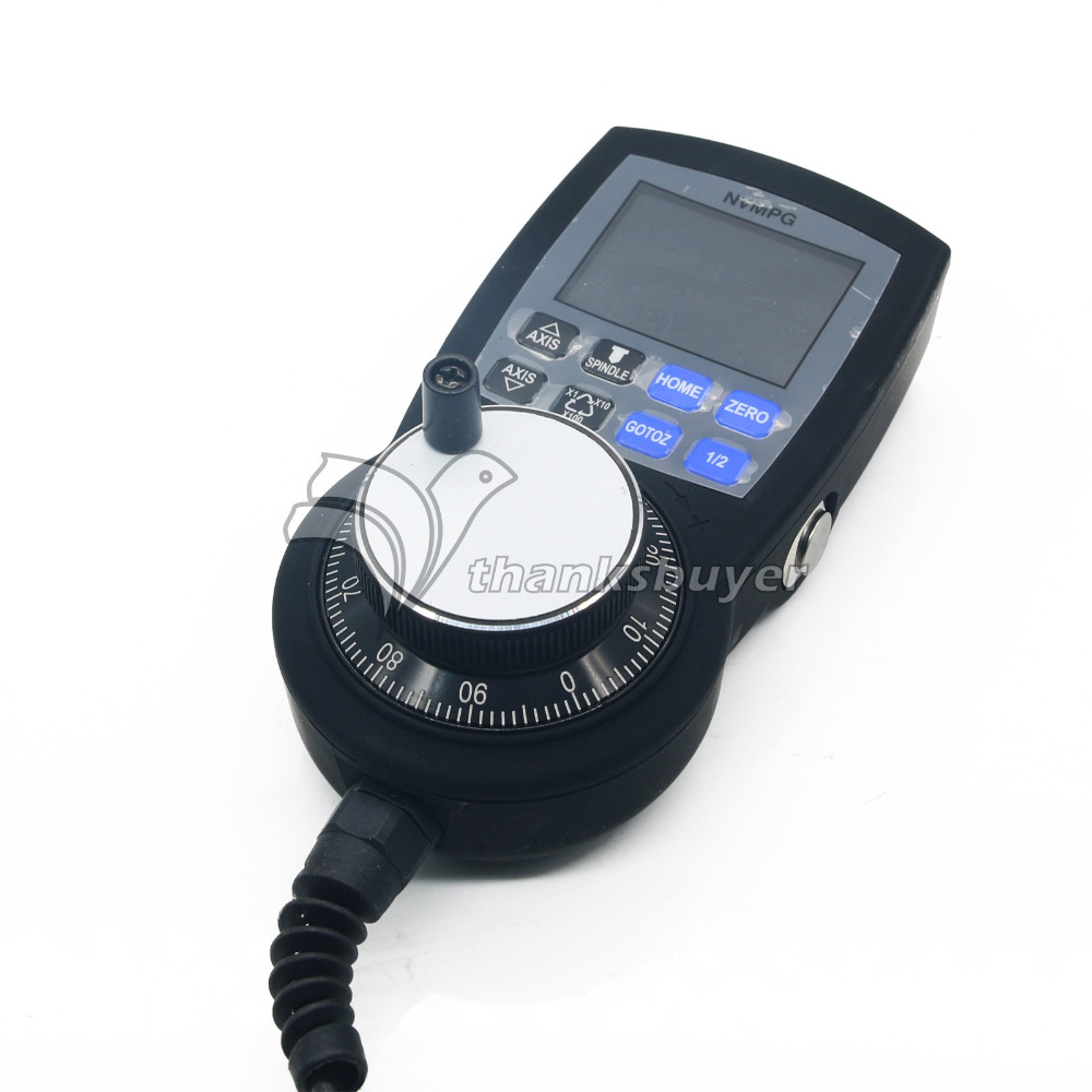 NVMPG CNC Manual Pulse Generator MPG 6 Axis Coordinates Display Handwheel open wire RJ45 Port
