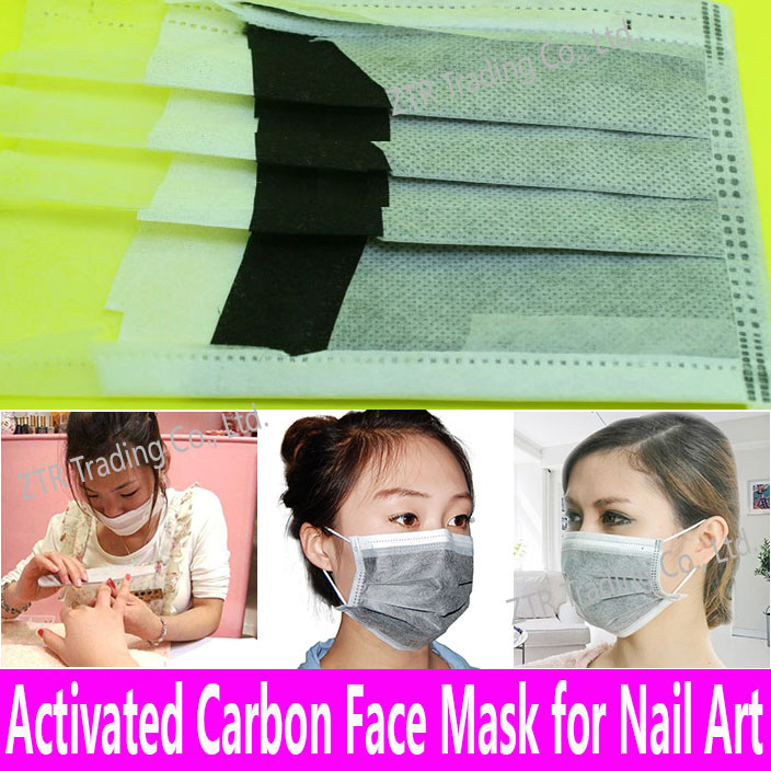 Buy 4 Get 20% Off: Activated Carbon Face Mask Nail Art Protection ...