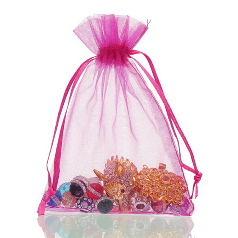 Wedding Favour Gift Bags: 13x18 Cm Organza Bag Jewelry Pouch Candy Bags Drawstring