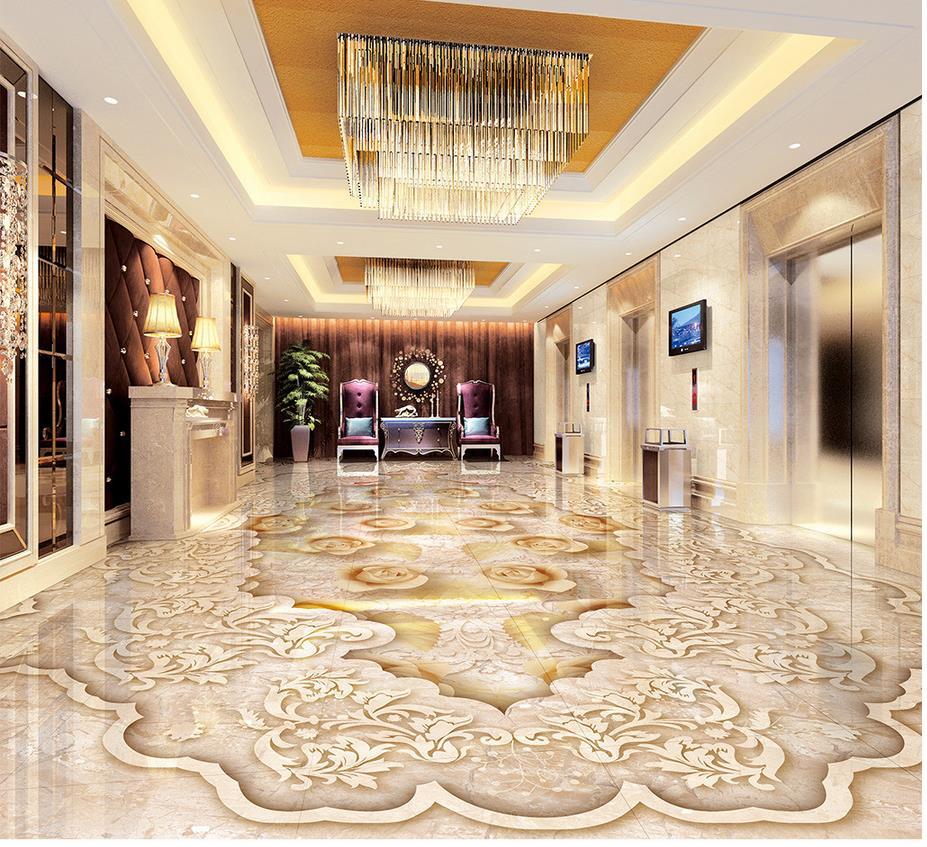 ФОТО Home Decoration PVC waterproof floor  Custom Photo self-adhesive 3D floor 3d floor wallpapers Marble parquet floor 3D
