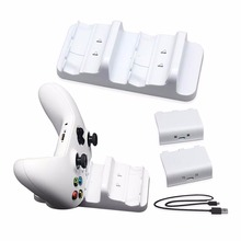 For Xbox One S Charger Dual Dock Charging Station with 2 Battery Packs and USB Cable for Wireless Controler