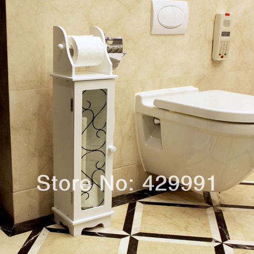 Superb Simple White Storage Cabinet Box Toilet Paper Weazands Rack Bathroom Toilet  Cabinet