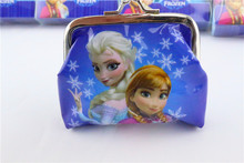 Disny Frozn Princess Elsa Anna Olaf PVC Coin Purse Wallet Bag Cases Kids Birthday Christmas Present Party Favors