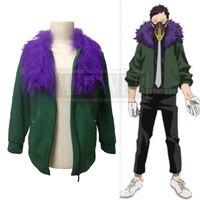 My Hero Academia Boku no Hero Akademia Kai Chisaki Jacket Coat Cosplay Costume Halloween Uniform Full Set Customized Any Size