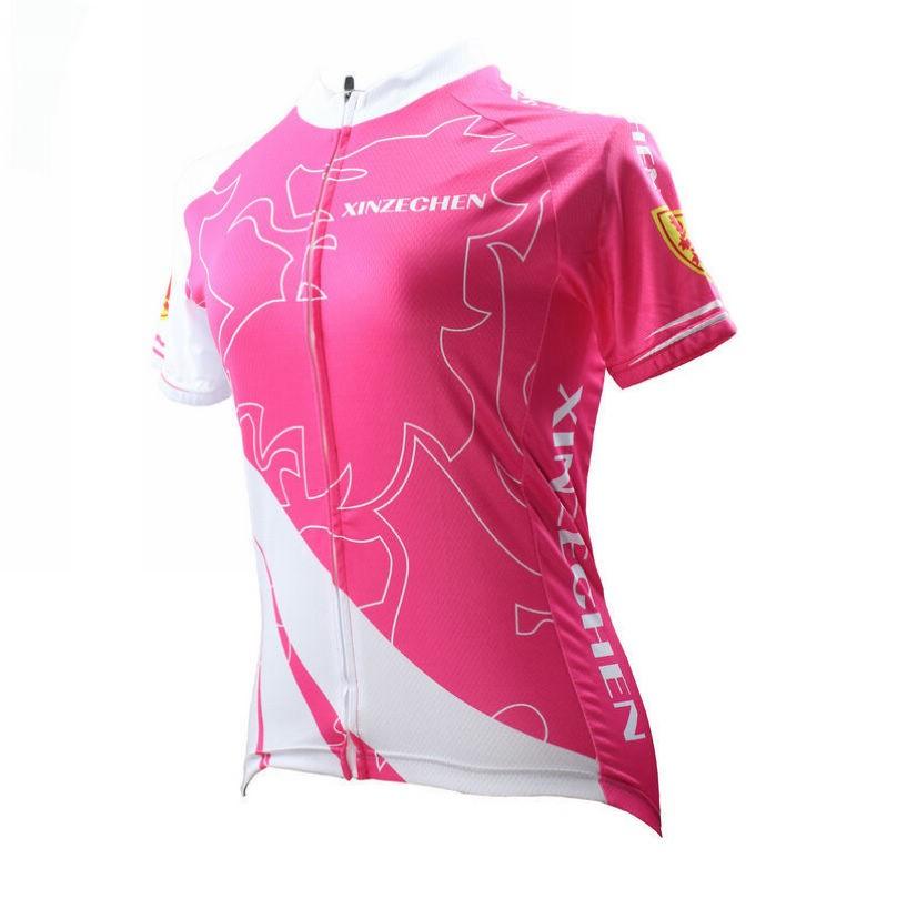 2016-COOL-XINZECHEN-Pink-Flame-Women-Wear-Cycling-Jersey-Sets-Bicycle-Wear-3D-Gel-Padded-BIB