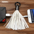 Remax Tassels Micro USB Cable with Key Ring Fast Charge Mobile Phone Cables for Samsung LG Huawei Android Phone Girl Lady Gift