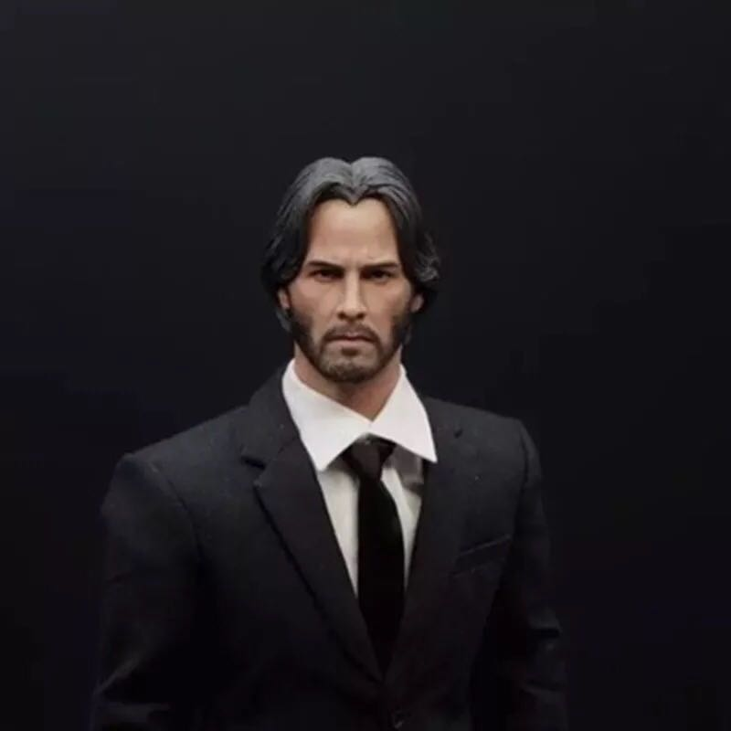 ELEVEN 1 6 Keanu Reeves John Wick 2 0 Head Sculpt For Hot Toys body Action