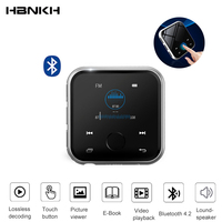 HBNKH R320 MP3 HIFI Player Bluetooth Mini Metal Video FM Radio Voice Recorder 1.8 inch Touch Screen with Speaker support TF Card