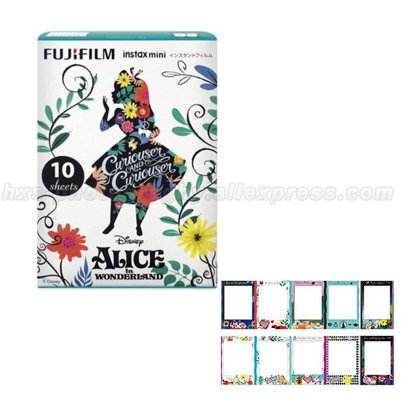 Limited Алиса в стране чудес Fujifilm Instax Mini 8 мгновенных Фильм 10 шт. фотобумаги для мини-камера и поделиться смартфон принтер