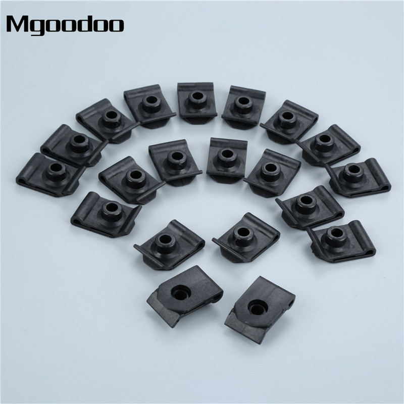 25 Nylon Screw Grommets For Honda Mazda Nissan #10 Screw Clipsandfasteners Inc