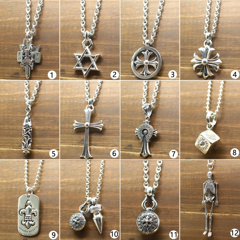 S925 Sterling Silver Retro Thai Silver Cross Necklace Swords Male And Female Models Punk Wind Sets Fashion Sweater Chain лапы динозавра jurassic world