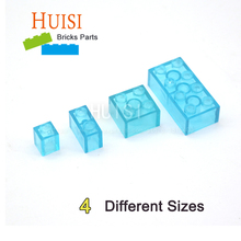 Compatible With LEGOES Parts Transparent Light Blue Model Assembly Plastic Building Blocks City DIY Toys For Children 50pcs/lot