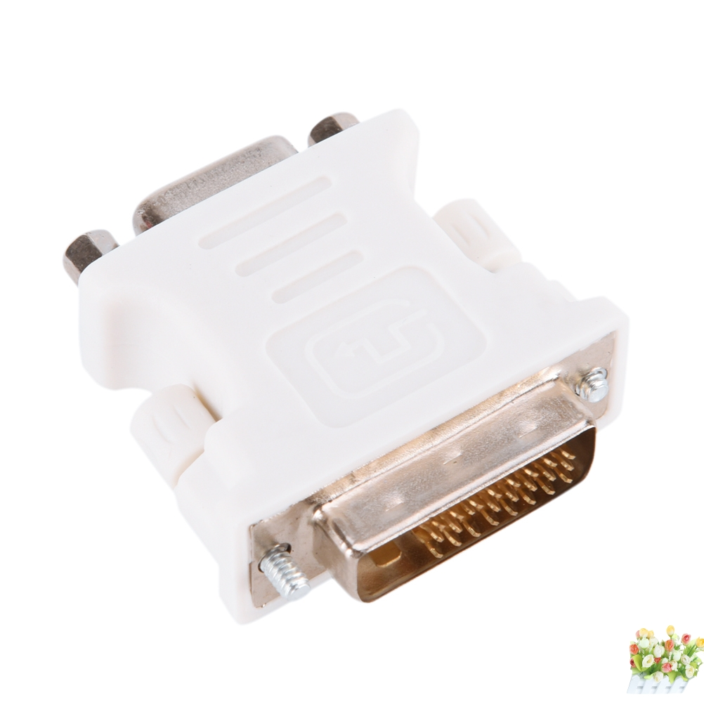LOT OF ONE HUNDRED to VGA Female 15-pin Adapter 100x DVI-I Male Analog 24+5