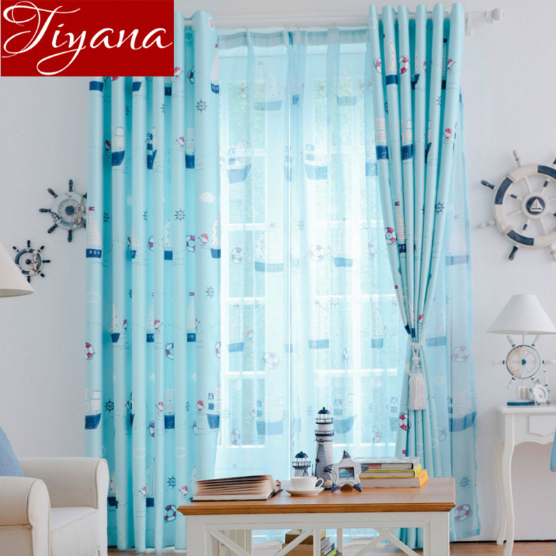 Cartoon Sailing Ship Design Shading Curtain Blackout: Aliexpress.com : Buy Cartoon Curtains With Pirate Ship