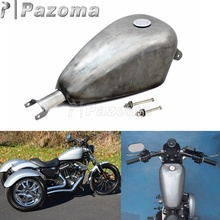 2.4 Gallon Gas Tank Motorcycle Unpainted EFI Fuel Tank for Harley Sportster XL XL883 XL1200 X48 X72 2007-2017 papanda black motorcycle 3 3 gallon efi gas tank fuel tank for harley davidson sportster xl 1200 883 2007 2017