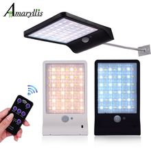 Color Adjustable Solar Lights Motion Sensor Three Modes 48 LEDS Outdoor Wall Garden Street Yard Waterproof Lighting Lamp