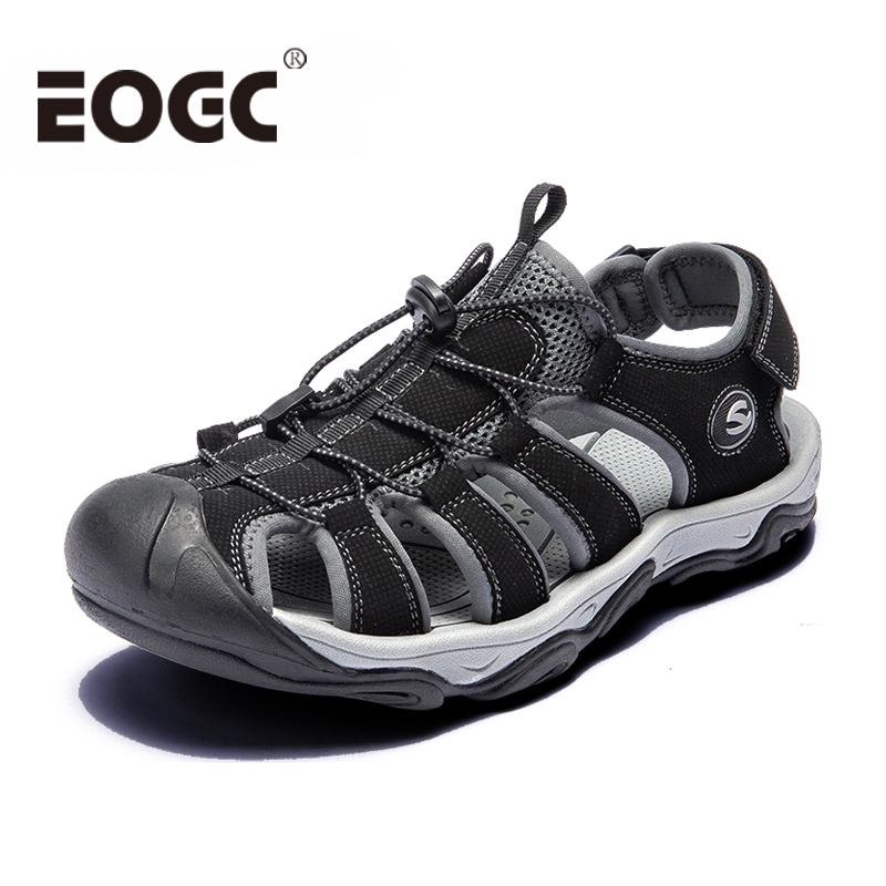 Fashion Men Beach Sandals Size 39-46 Men Roman Style Sandals Summer Leather Shoes For Beach Outdoor Walking Shoes Male