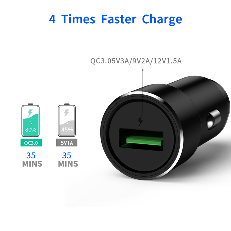Metal Universal USB Car Phone Charger For Iphone Car Charger Quick Charge 3 0 USB Fast Charger Adapter For Samsung Xiaomi in Car Chargers from Cellphones Telecommunications