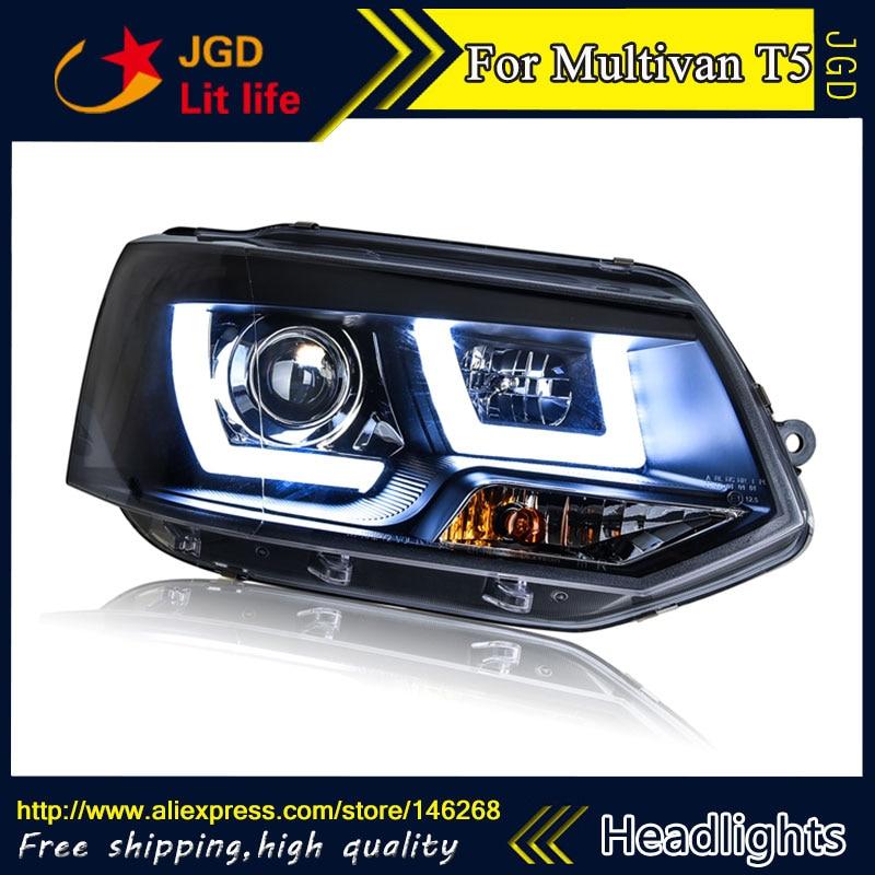 Free shipping ! car styling led hid rio led headlights head lamp case for vw multivan t5 2012-2016 bi