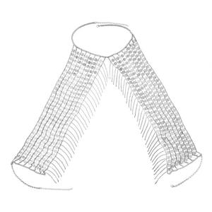 Image 4 - Boho Sexy Magnificent Metal Sequins Tassel Harness Necklace Bra Chain Women Jewelry Bikini Metal Alloy Statement Body Chain