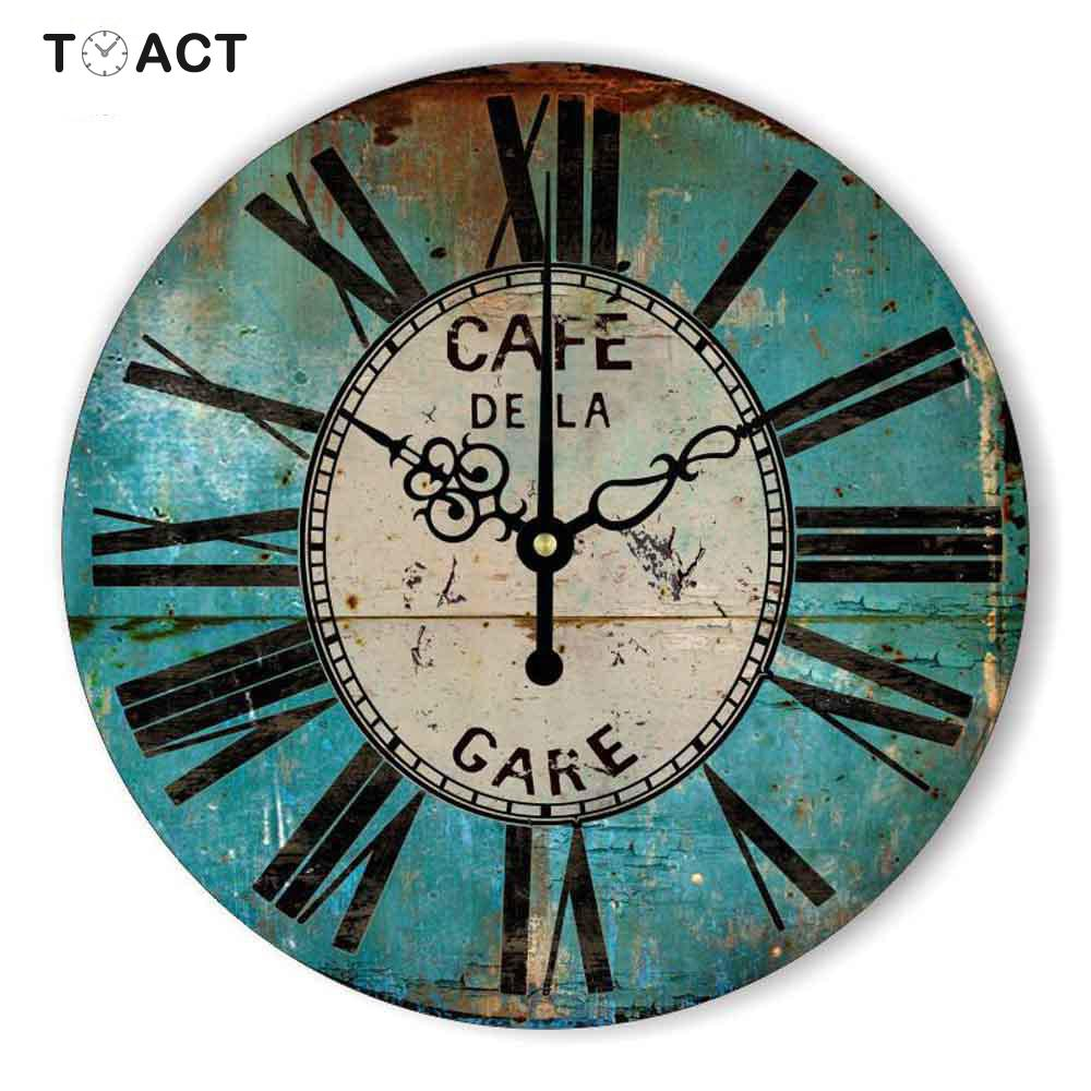 Retro Wall Clock Home Decoration Vintage Wall Clocks Roman Number Living Room Hanging Watches Decorative