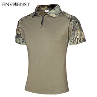 2017 EUR Tactical Summer Camouflage Coolmax Polos Men S Airsoft Army Combat Military Uniform Quick Dry