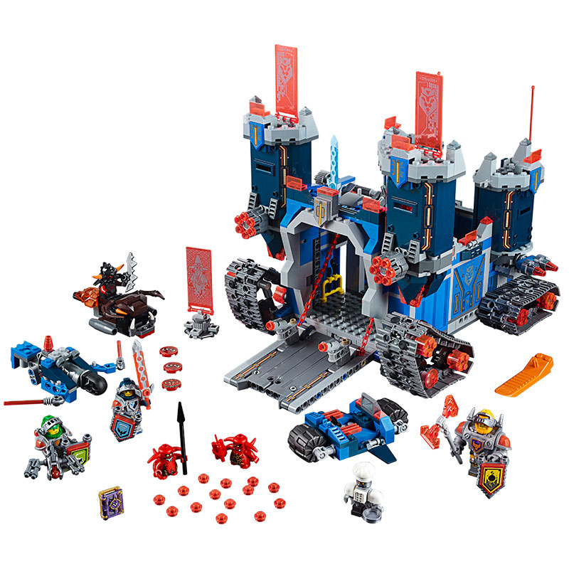 Lepin 2017 Nexus Knights The Fortrex Castle Building Block Clay Aaron Fox Axl Compatible Brick Toy Children legoingly 70317 Toys