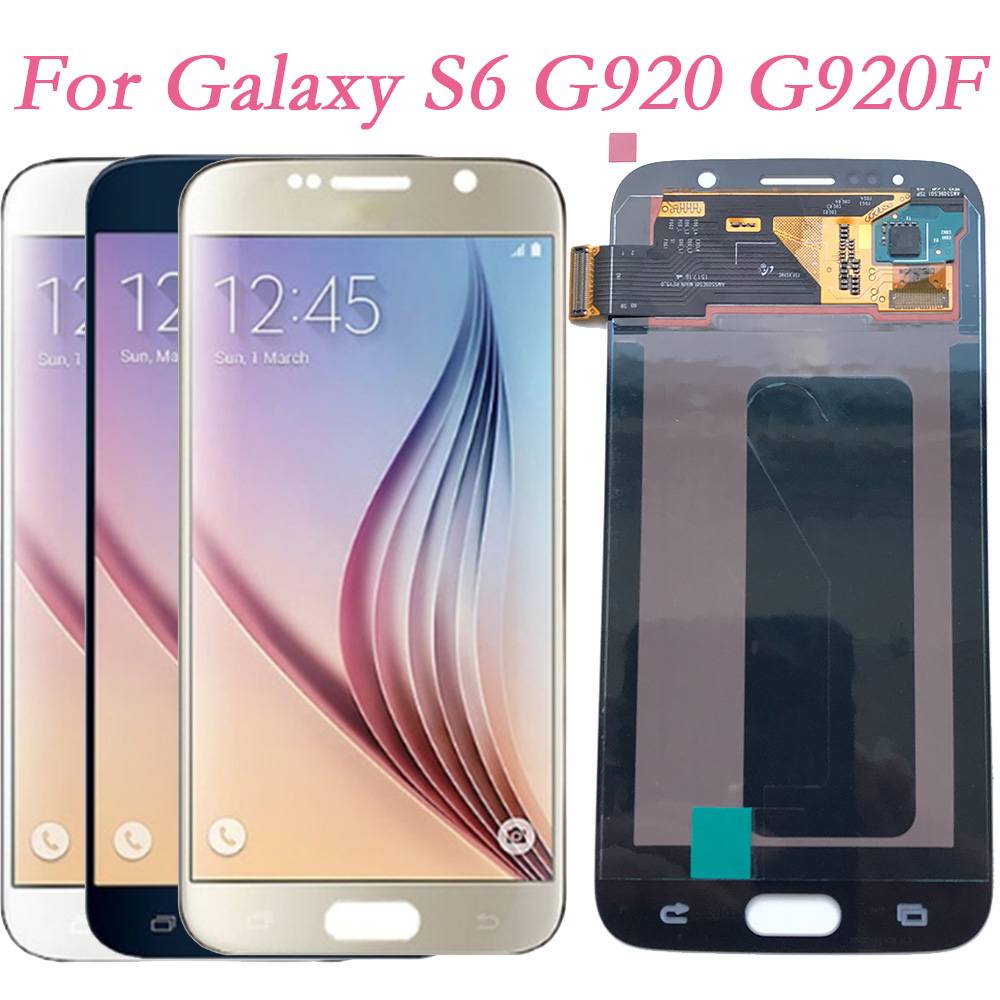 Original Super AMOLED For Samsung Galaxy S6 G920F G920I Touch Screen Digitizer LCD Display For Samsung G903 G920FD No Frame