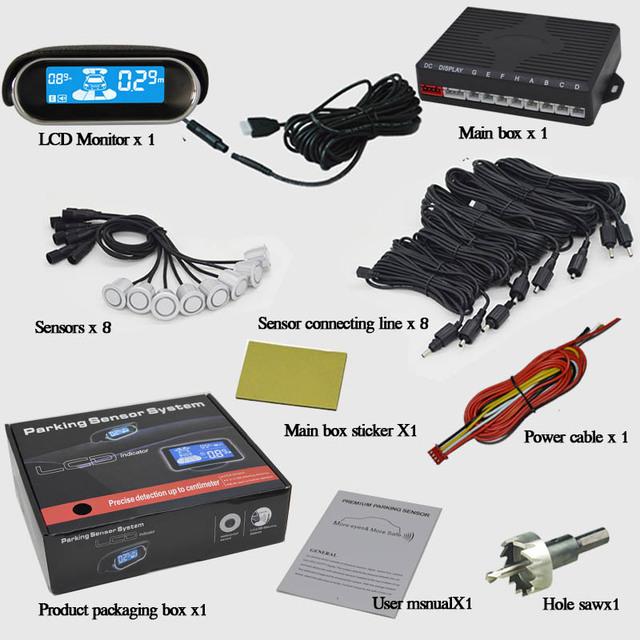 Parking Sensors Kit with 8 sensors