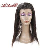 علي الشعر انابيل 360 الدانتيل أمامي إغلاق التوالي البرازيلي ريمي الشعر الطبيعي مع شعر الطفل 100% الإنسان الشعر