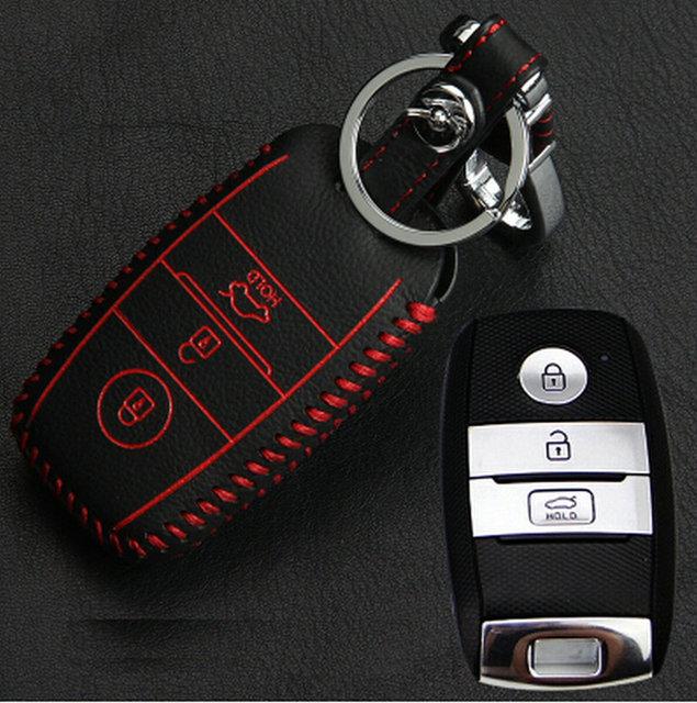 Горячая продажа! автомобиль Смарт-Ключ бумажника автомобилей натуральная кожа крышка клавиатуры кожаные чехлы ключевые для 2016 KIA Optima K5 Sportage