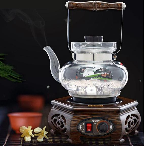 free shipping KAMJOVE T-40 Wooden tea ceremony tea stove machine automatic boiling tea glass pot classical Wenge tea art stove