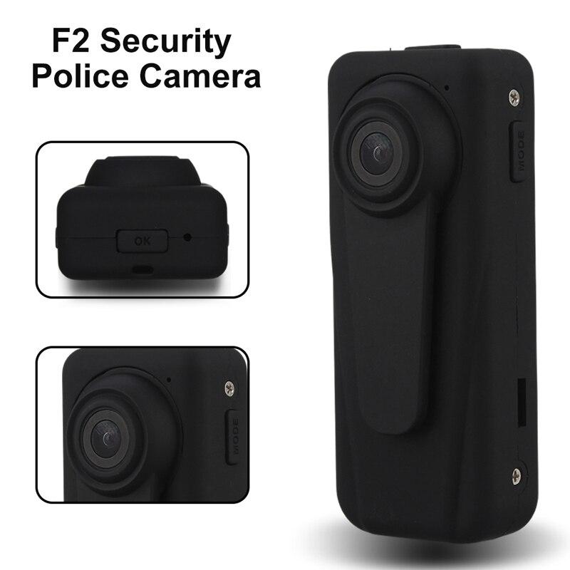 F2 di Sicurezza Macchina Fotografica di Polizia Guardia di Sicurezza del Registratore DVR Del Corpo Tasca HD 1080 P w/850 mAh Batteria