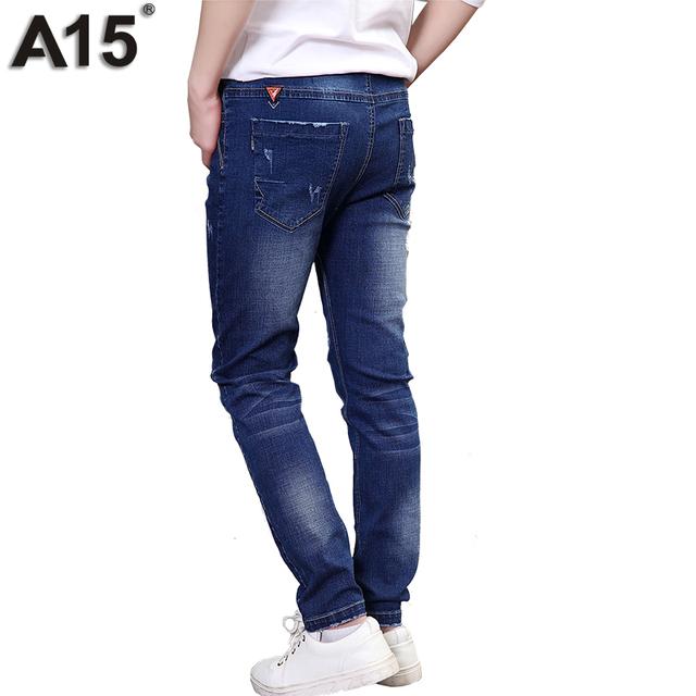 A15 jeans para adolescentes niños jeans jeans infantil chicos de bolsillo de larga duración 2017 Ropa de Los Cabritos Niños Jeans Pantalones Edad 8 10 12 14 16 años