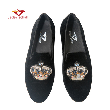 Jeder Schuh men shoes  Crown Indian Silk loafers Men's flat shoes are suitable for weddings and banquets