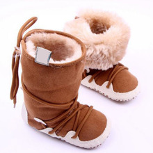Newborn Baby Snow Boots Shoes Soft Crib Toddler Infant Winter Warm Fleece Booties First Walkers V2