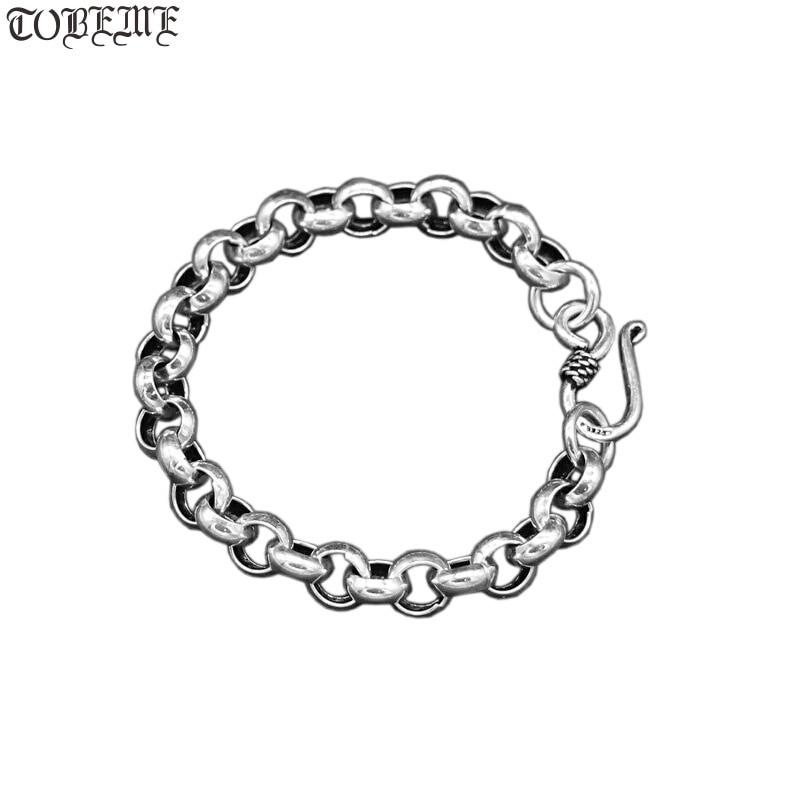 Handmade Thailand 925 Siilver Bracelet Vintage Sterling SIlver Bracelet Pure Silver Bracelet-in Chain & Link Bracelets from Jewelry & Accessories    1