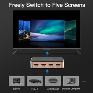 Image 2 - Vention HDMI التبديل 5x1 مقسم الوصلات البينية متعددة الوسائط وعالية الوضوح (HDMI) 5 المدخلات 1 الناتج محول ل XBOX 360 PS4 الذكية أندرويد HDTV 4K 5 في 1 خارج HDMI الجلاد