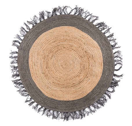 Natural Jute Carpet Round Mawgie