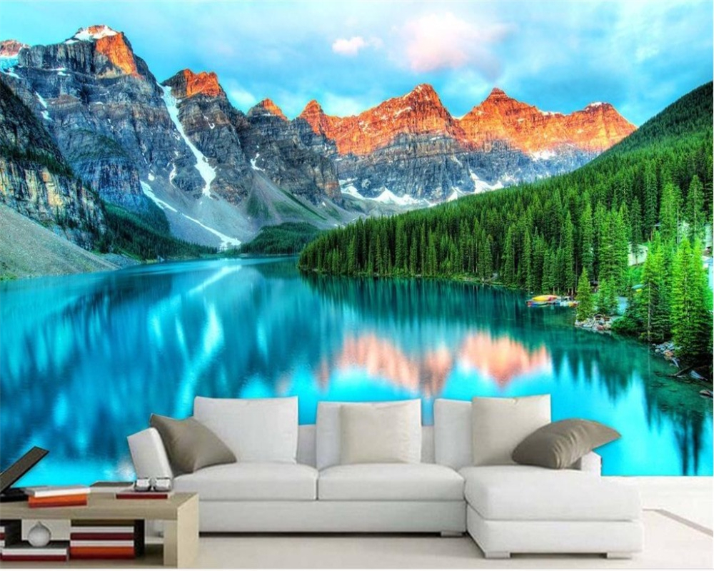 Custom 3d Mural Wallpapers Hd Landscape Mountains Lake