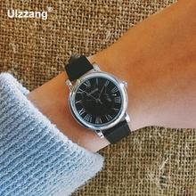 Роскошные новые брендовые римские цифры чёрный; коричневый кожа кварцевые наручные часы Наручные часы для любителей пара Для мужчин Для женщин