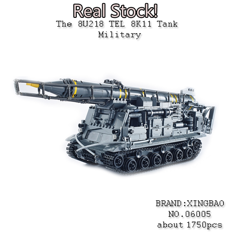 Xingbao 06005 1750Pcs Military weapon Series The 8U218 TEL 8K11 Model Building Blocks Bricks Educational Toys for ChildrenGifts emmett cox retail analytics the secret weapon