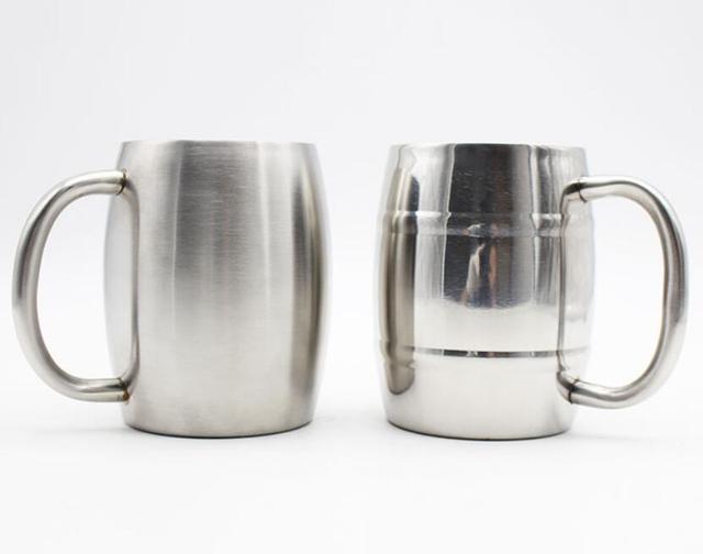 10pcs 16oz 450ml Insulated Beer Mug Stainless Steel Double Wall Coffee Mugs Keeps Ice Cold