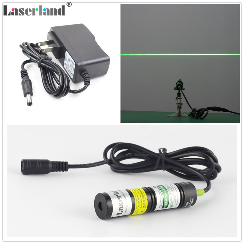 цена на 1875 532nm 50mW Green LINE Diode Laser Module for Woodworking Stone Cutting Machine Laser Swamp Haunted House Adapter Glass Lens