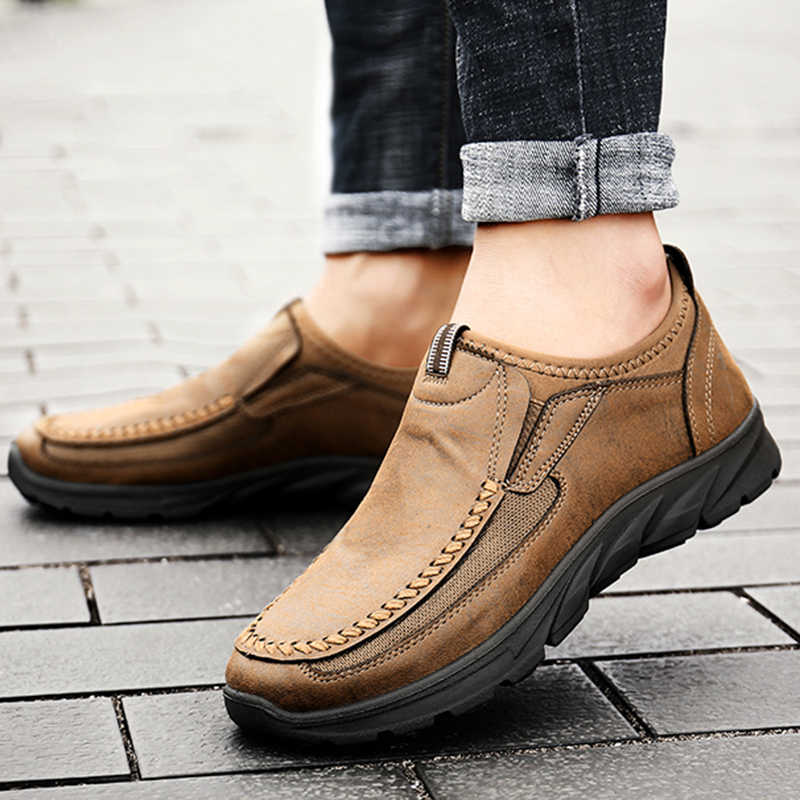 Erkekler rahat ayakkabılar loafer'lar Sneakers 2019 yeni moda el yapımı Retro eğlence loafer ayakkabılar Zapatos Casuales Hombres erkek ayakkabısı