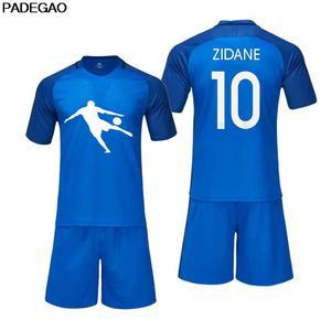 d42f0dd08 Football Kit Shirt for fans gift 2018 005 Customize men Zinedine Zidane  Legend Retro