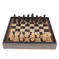 3 in 1 Chess Checkers Wooden Chess Set Entertainment Game Chess King Queen Chessman